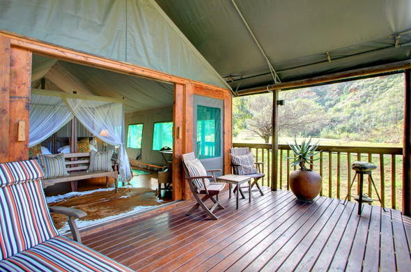 Luxury Tented Suite with private patio.
