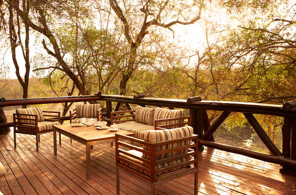 Enjoy a cup of tea on the deck with views of Sabi Sands.