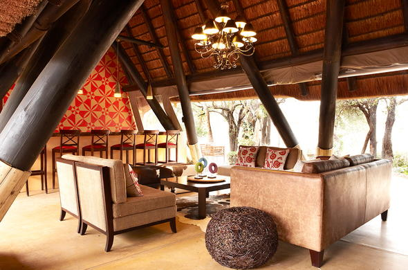 Guest lounge area at Sabi Sands accommodation.