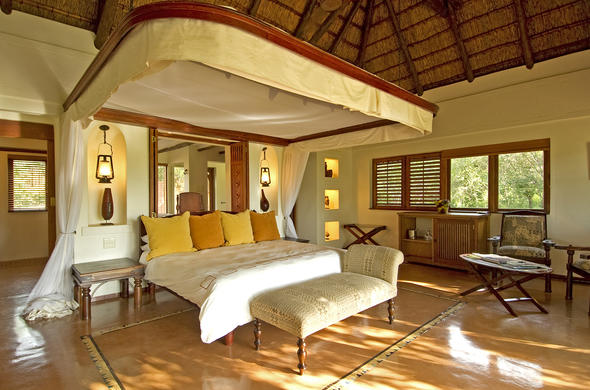 Spacious accommodation at Chobe Chilwero Lodge.