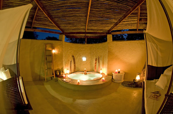 Relax in the private plunge pool.