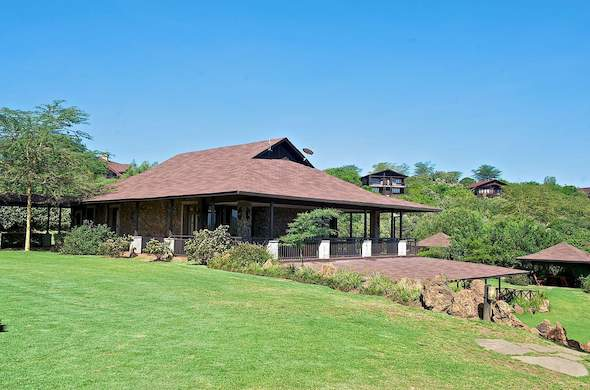 Exterior of Great Rift Valley Lodge.