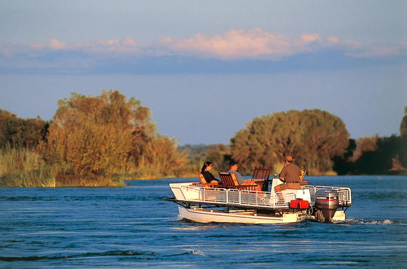 Boat cruises on the mighty Zambezi River.