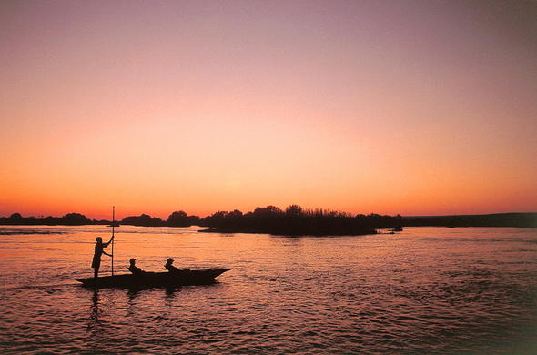 Leisurely mokoro safari on the Zambezi River.