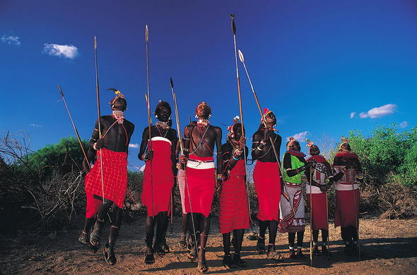 Encounters with the Maasai people of Kenya at Mara Intrepids.