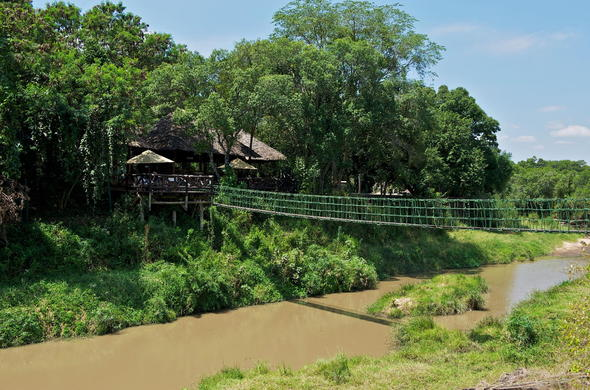Swing bridge at Mara Intrepids.