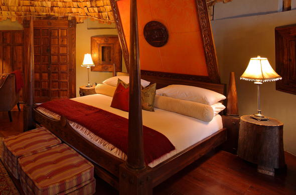 Enjoy a comfortable stay at Ngorongoro Crater Lodge.