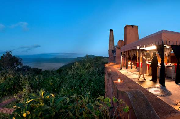 Dinner with incredible views of Ngorongoro Conservation Area.