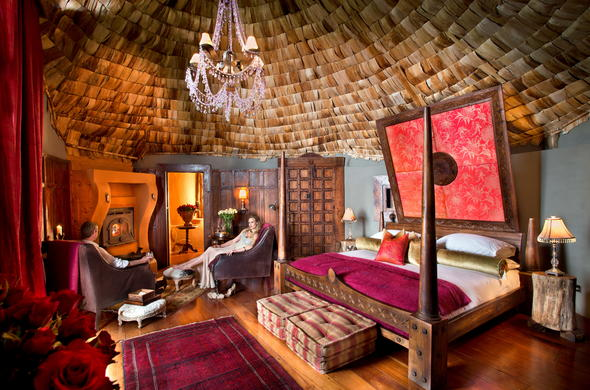 Enjoy a luxurious stay at Ngorongoro Crater Lodge.