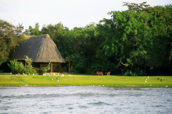 Rusinga Island Lodge rests gently on the banks of Lake Victoria.