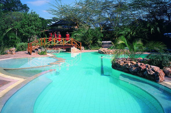 Slip into the refreshing swimming pool at Sarova Mara Game Camp.