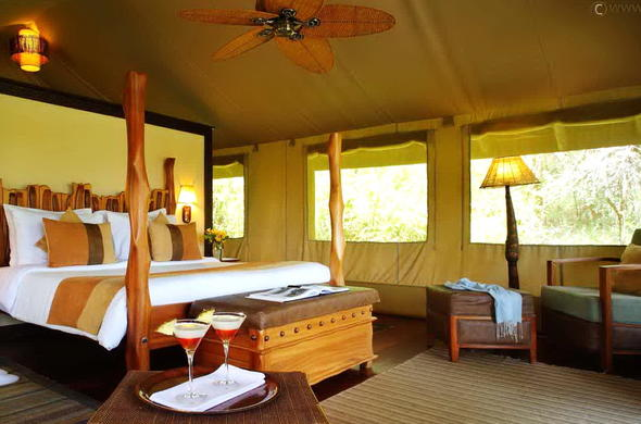Room interior at Sarova Mara Game Camp.