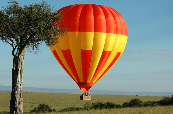 Hot ai ballooning in Masai Mara.