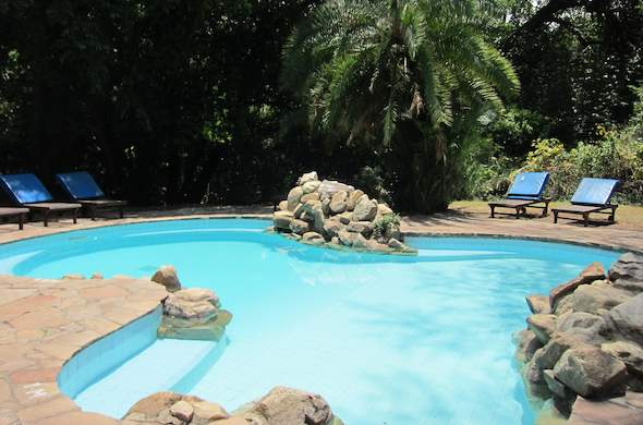 Take a dip into the Siana Springs swimming pool.