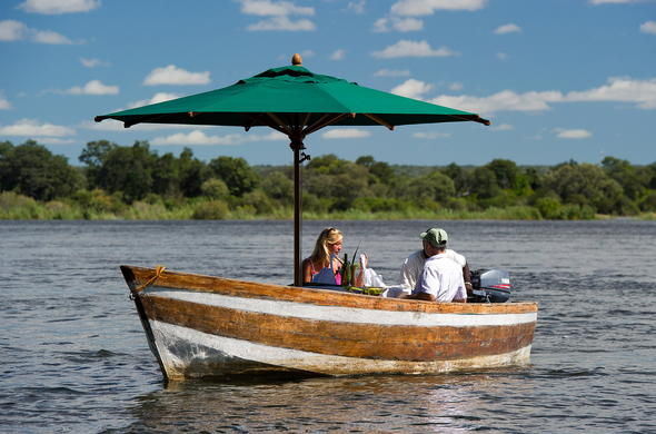 Enjoy drinks while cruising the Zambezi River.