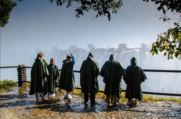 Stand in the pouring mist of Victoria Falls. Jo Kromberg