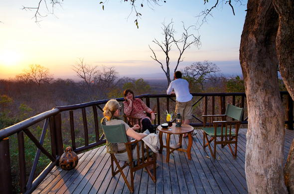 Socialise and watch the sunset on the viewing deck.