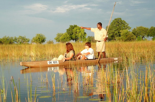 Mokoro ride in the Okavango Delta.